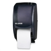 "San Jamar Duett Standard Bath Tissue Dispenser - Roll Dispenser - 2 x Roll - 12.8"" Height x 7.5"" Width x 7"" Depth - Black"