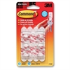 Command Hooks, Mini, White, 0.5lb Capacity, 6 Pack - 6 Small Hook - 8 oz (226.8 g) Capacity - Plastic - White - 6 / Pack