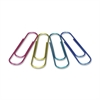"Baumgartens Jumbo Paper Clip - 4"" Length - 1 Pack - Assorted - Metal"
