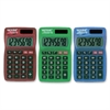 "700BTS Fashion Handheld Calculator - 8 Digits - LCD - Battery/Solar Powered - 0.3"" x 2.5"" x 4"" - Rubber - 1 Each"