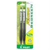 BeGreen RexGrip Ballpoint Pen - Medium Point Type - 1 mm Point Size - Refillable - Black - 2 / Pack