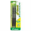 Pilot BeGreen G-Knock Retractable Gel Ink Pens - Fine Point Type - 0.7 mm Point Size - Refillable - Black Gel-based Ink - 2 / Pack