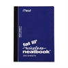 "Mead Fat Lil' Neatbook - 200 Sheets - Tape Bound 4"" x 5.50"" - White Paper - Assorted Cover - Perforated - 1Each"