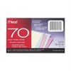 "Mead Double Ruled 3x5 Index Cards - 70 Sheets - 3"" x 5"" - Assorted Paper - 70 / Pack"