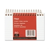 """Mead Spiral Bound Index Card - 50 Sheets - Printed - Spiral - 5"""" x 3"""" - White Paper - 1 / Each"""
