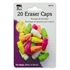 CLI Pencil Eraser Cap - Lead Pencil - Wedge - Latex-free - Rubber - 20/Pack - Neon