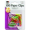 CLI No. 1 Paper Clip - 100 Pack - Assorted - Vinyl
