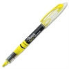 Pen-style Liquid Highlighters - Micro Point Type - Chisel Point Style - Fluorescent Yellow Pigment-based Ink - Clear Barrel - 1 Each