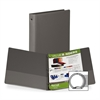 "Samsill Value Storage Ring Binder - 1"" Binder Capacity - Letter - 8 1/2"" x 11"" Sheet Size - 200 Sheet Capacity - 3 x Round Ring Fastener(s) - 2 Internal Pocket(s) - Vinyl - Gray - Recycled - 1 Each"