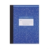"""Composition Book - 80 Sheets - Printed - Sewn 7.75"""" x 10.25"""" - Blue Cover Marble - 1Each"""