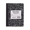 "Roaring Spring Composition Book - 100 Sheets - Printed - Sewn - 15 lb Basis Weight 7.50"" x 9.75"" - Black Cover Marble - 1Each"