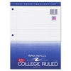 "Roaring Spring 3-Hole College Ruled Filler Paper - 200 Sheets - Printed - 15 lb Basis Weight - 8.50"" x 11"" - White Paper - 200 / Pack"