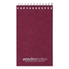 "Roaring Spring Wirebound Memo Book - 60 Sheets - Printed - Wire Bound - 15 lb Basis Weight 3"" x 5"" - Mist Gray Cover - Recycled - 1Each"