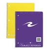 "Roaring Spring 1-subject Spiral Notebook - 70 Sheets - Printed - Spiral - 15 lb Basis Weight 8"" x 10.50"" - Assorted Cover - 1Each"