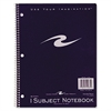 "Roaring Spring 1-Subject Notebook - 80 Sheets - Printed - Wire Bound - 15 lb Basis Weight 8.50"" x 11"" - Assorted Cover - 1Each"