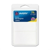"All-Purpose Label - Permanent Adhesive - 1.50"" Width x 2.75"" Length - Rectangle - White - 75 / Pack"