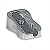 Baumgartens Thimble Size Pencil Sharpener - Handheld - 1 Hole(s) - Metallic Silver