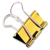 "Baumgartens Metallic Colored Binder Clip - Large - 1.3"" Width - 100 Sheet Capacity - 4 Pack - Assorted - Metal"