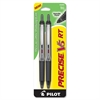 PRECISE V5 RT Rollerball Pen - Extra Fine Point Type - 0.5 mm Point Size - Needle Point Style - Refillable - Black - Black Barrel - 1 / Pack