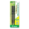 Vball BeGreen Roller Ball Pen - Extra Fine Point Type - 0.5 mm Point Size - Black - Black Barrel - 2 / Pack