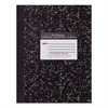 "Roaring Spring Quadrille Composition Book - 80 Sheets - Printed - 15 lb Basis Weight 10.13"" x 7.88"" - Black Marble Cover - 1Each"