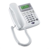 Standard Phone - White - Corded - 1 x Phone Line - Speakerphone