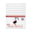 "Roaring Spring Music Filler Paper - 20 Sheets - Printed - 32 lb Basis Weight - Letter 8.50"" x 11"" - White Paper - 1 / Pack"