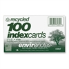 "Roaring Spring Environotes Ruled Index Card - 100 Sheets - Printed - 5"" x 3"" - White Paper - Recycled - 100 / Pack"