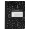 "Roaring Spring Compostion Book - 80 Sheets - Printed - Sewn - 15 lb Basis Weight 7.50"" x 9.75"" - Black Cover Marble - 1Each"