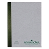 "Roaring Spring Composition Book - 80 Sheets - Printed - Sewn - 15 lb Basis Weight 9.75"" x 7.50"" - Mist Gray Cover - Recycled - 1Each"