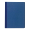 """Roaring Spring Blue Canvas Cover Notebook - 60 Sheets - Printed - Sewn - 20 lb Basis Weight 9.75"""" x 7.50"""" - Green Paper - Blue Cover Canvas - 1Each"""