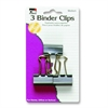 "CLI Binder Clip - Medium - 1.3"" Width - 1 / - Black - Steel"