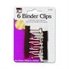 "Binder Clip - Small - 0.8"" Width - 1 / - Black - Steel"