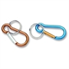 Baumgartens Small Carabiner Key Ring - Aluminum - 1 Each - Assorted