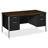 "HON Vicinity 34962 Pedestal Desk - Rectangle Top - 5 Drawers - 2 Pedestals - 60"" Table Top Width x 30"" Table Top Depth - 29.50"" Height - Assembly Required"
