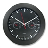 "Artistic 12"" Rnd Wall Clock w Temp/Humidity Gauge - Quartz"