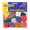 ChenilleKraft Extra Large Colossal Plastic Button - 60 Piece(s) - 1 / Pack - Assorted - Plastic