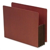 "SJ Paper Expanding Red Rope File Pocket - Letter - 8 1/2"" x 11"" Sheet Size - 3 1/4"" Expansion - Top Tab Location - 11 pt. Folder Thickness - Redrope - Red - Recycled - 10 / Box"