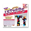 "Trend Ready Letters with Neon Dots - 83 Lowercase Letters, 20 Numbers, 36 Punctuation Marks, 59 Uppercase Letters, 18 Spanish Accent Mark - Pin-up - 4"" Height - Assorted - 1 / Pack"