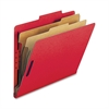 "Nature Saver 2-Dvdr Letter Classification Folders - Letter - 8 1/2"" x 11"" Sheet Size - 2"" Fastener Capacity for Folder - 2 Divider(s) - 25 pt. Folder Thickness - Red - Recycled - 10 / Box"