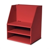"Pacon Desk Organizer - 16.5"" Height x 13.5"" Width x 10.8"" Depth - Floor - Recycled - Red - Cardboard - 1Each"