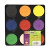 ChenilleKraft Tempera Paint Blocks - 9 / Set - Assorted, Yellow, Green, White, Black, Brown, Purple, Orange
