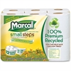 """Marcal Small Steps Bathroom Tissue - 2 Ply - 4.20"""" x 3.60"""" - 336 Sheets/Roll - White - Hypoallergenic, Lint-free, Non-chlorine Bleached - 12 / Pack"""