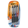 BIC Triumph 537RT Gel Pen - Medium Point Type - 0.7 mm Point Size - Refillable - Assorted Gel-based Ink - Metal Barrel - 4 / Pack