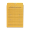 "Two-Sided Interdepartmental Envelope - Interoffice - 10"" Width x 13"" Length - 32 lb - String/Button - Kraft - 100 / Box - Brown Kraft"
