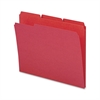 "Sparco Top Tab File Folder - Letter - 8 1/2"" x 11"" Sheet Size - 1/3 Tab Cut - Assorted Position Tab Location - 11 pt. Folder Thickness - Red - Recycled - 100 / Box"