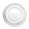 Dixie Souffle Cup Lid - Round - Plastic - 2400 / Carton - Translucent