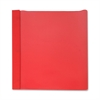 "Business Source Report Cover - 1/2"" Folder Capacity - Letter - 8 1/2"" x 11"" Sheet Size - 100 Sheet Capacity - 3 x Prong Fastener(s) - Red - 25 / Box"