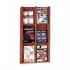 "Buddy Literature Rack - 6 Pocket(s) - 36"" Height x 20.8"" Width x 3"" Depth - Wall Mountable - Mahogany - Wood, Veneer - 1Each"