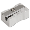 Integra Pocket Pencil Sharpener - 1 Hole(s) - Aluminum - Silver